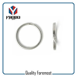 Polished Stainless Steel Split Key Ring