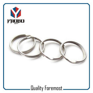 Stainless Steel 25mm Split Key Ring,Round Edge Silver Split Ring