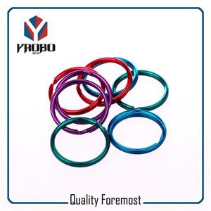 Colored Split Ring Key Ring