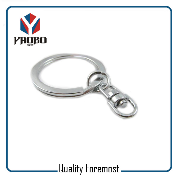Flat Split Ring With Swivel