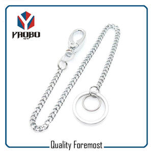 Snap Hook With Curb Chain,Flat Split Ring With snap hook