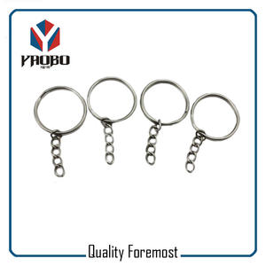 Split Ring With Curb Chain,Split Ring With Chains for tags