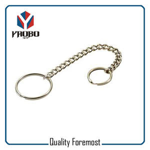 Split O Ring With Chain,Key Ring With Curb Chain