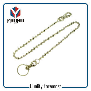 Snap Hook With Ball Chain,Split Ring With Ball Chain For Bags