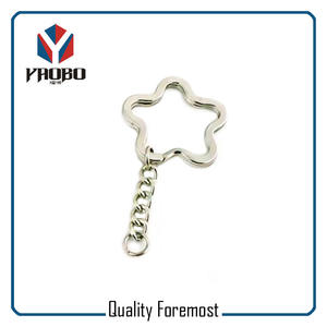 Key Chain Flower Split Ring