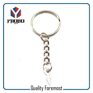 25mm Split Ring With Chain,Split O ring key chains
