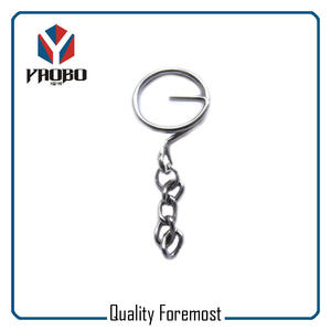Key Ring G Ring With Chains,metal G ring with Chains