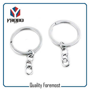 Flat Key Ring For Chains,silver flat key ring for chain