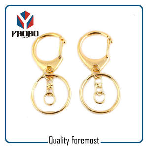 D Shape Snap Hook For Key Rings,Gold D shape sanp hook for chains