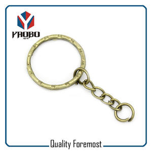 Antique Brass Wave Key Ring For Chain