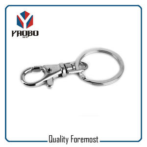 38mm Snap Hook With Split Rings,silver snap hook with split rings
