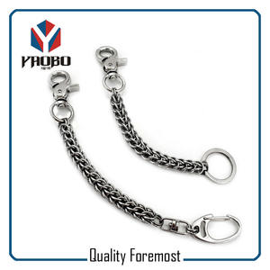 Snap Hook With Chain For Wallet,snap Hook for wallet chain