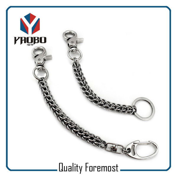 Snap Hook With Chain For Wallet