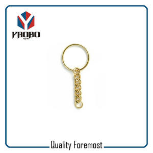 Gold Key Ring Key Chain,gold split ring with chain