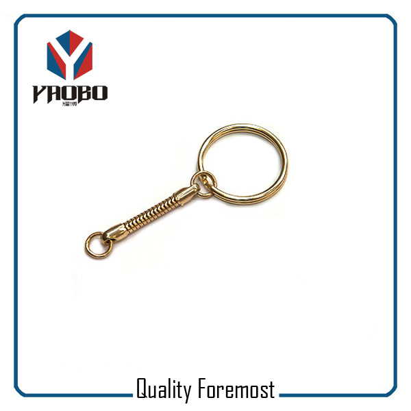 Gold Key Ring With Snak Chain