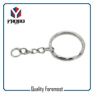 Wave Shape Key Ring With Chain
