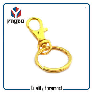 Gold Snap Hook For Key,gold snap hook with split ring