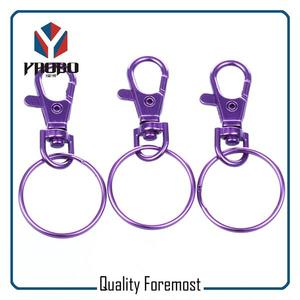 Purple Snap Hook With Key Ring,Colored Snap Hook With Key Ring