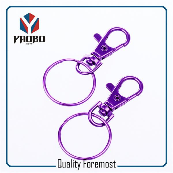 Purple Snap Hook With Key Ring