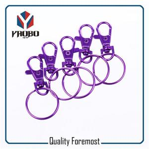 38mm Purple Snap Hook With Split Ring,purple Snap Hook With Key Ring