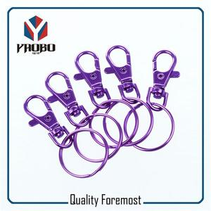10mm Small Snap Hook With O Ring,purple Snap Hook With Key Ring