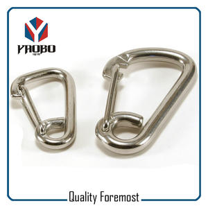 Wire Gate Stainless Steel Carabiner,Spring Stainless Steel Snap Hook