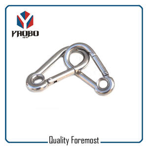 Stainless Steel Carabiner Hook With Hole