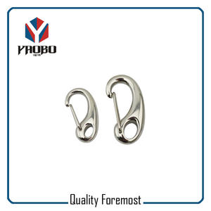Stainless Steel Egg Shape 30mm Spring Hook,Egg Type Snap Hook DIN 5299B