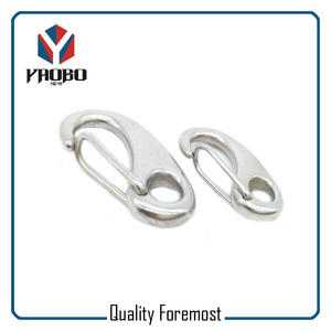 Stainless Steel Oval Egg Snap Hook Bracelet