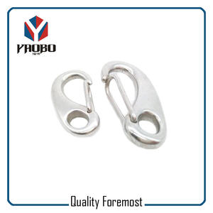 Stainless steel spring hook,Stainless Steel Oval Egg Snap Hook Bracelet