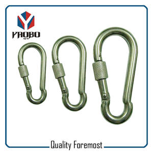 Stainless Steel Carabiner Hook With Lock,Stainless Steel Hooks with lock