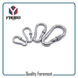 Stainless Steel Carabiner With Lock For Climb,Stainless Steel Carabiner