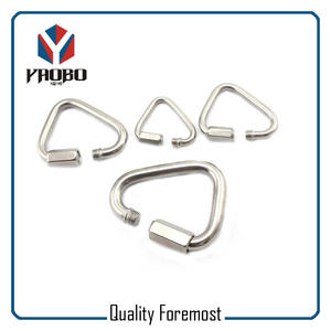 Triangle Stainless Steel Carabiner Hook With Lock