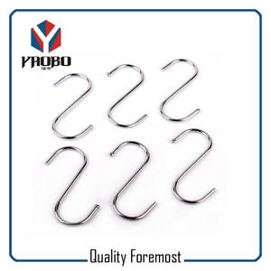 Metal S Hook For Hanging,High Quality S Hooks,silver S hook