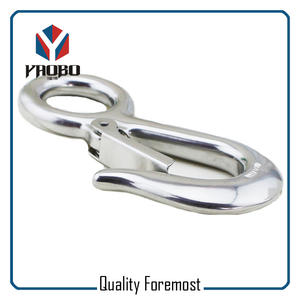 Stainless Steel Fixed Snap Hook,Stainless Steel Eye Snap Hook