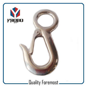 AISI316 Stainless Steel Fixed Snap Hook,fixed Eye Snap Hook,