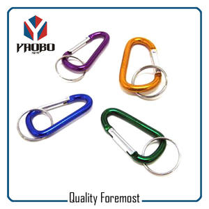 Aluminum Carabiner With Key Ring,Manufacture Aluminum Carabiner