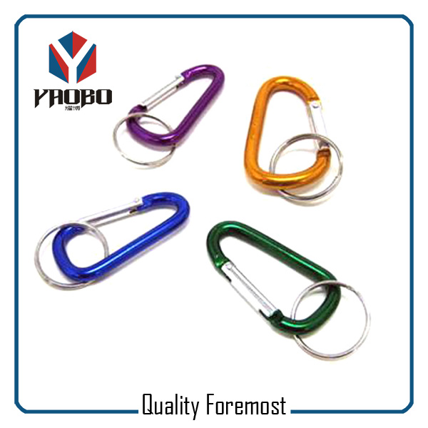 Aluminum Carabiner With Key Ring