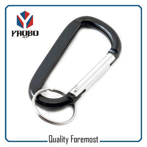 Aluminum Carabiner With Split Ring,Carabiner With Key Ring