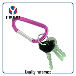 Aluminum Carabiner For Key,Carabiner With Key Ring