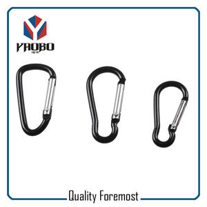 Wholesales Black Carabiner,Aluminum Carabiner For key