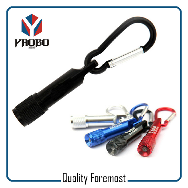Aluminum Carabiner With LED Ligh