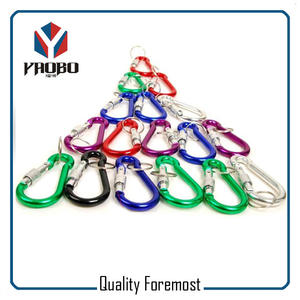 Aluminum Carabiner With Lock,Carabiner Hook lock with key ring