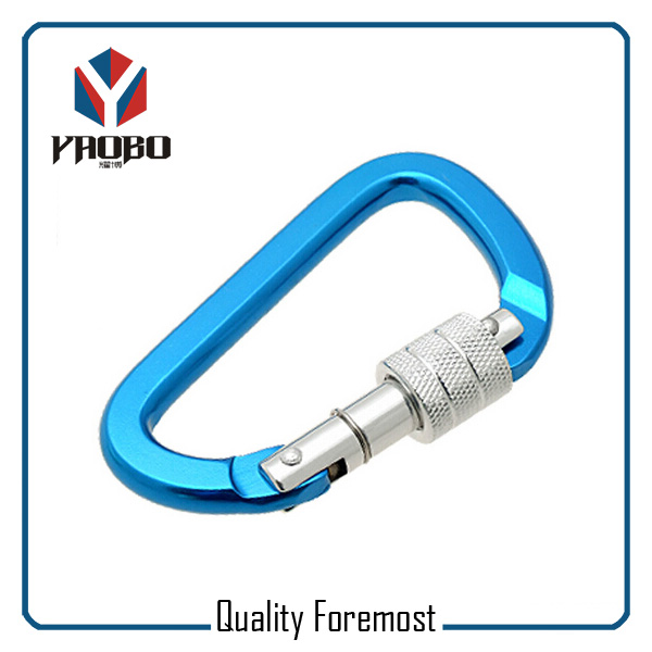 Blue Carabiner With Lock
