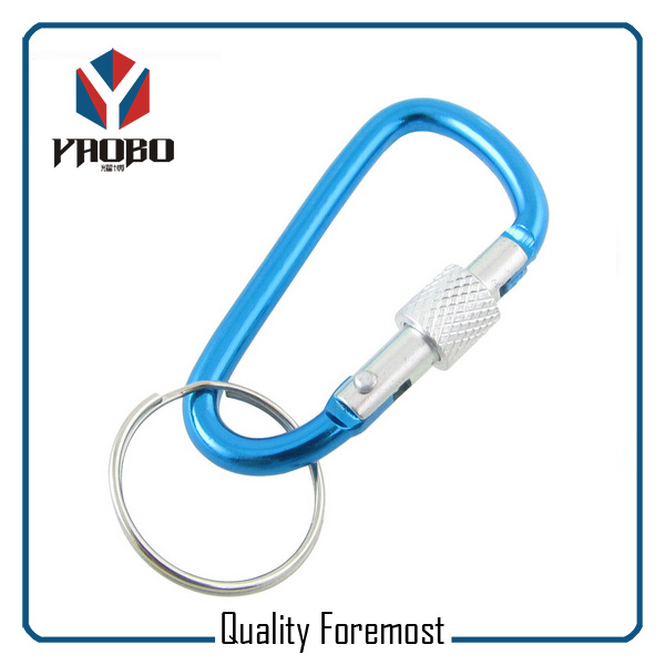 60mm Blue Carabiner With Lock