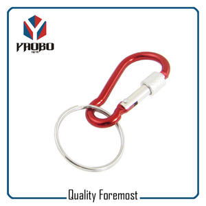 Red Carabiner Key Ring,wholesale Carabiner With Lock