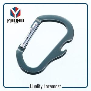 Carabiner Hook With Bottle Opener,round shape carabiner
