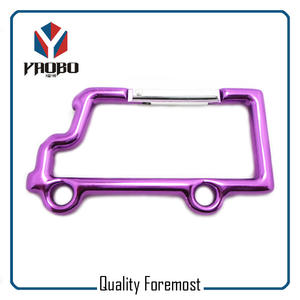 Truck Shape Carabiner,purple color truck shape carabiner