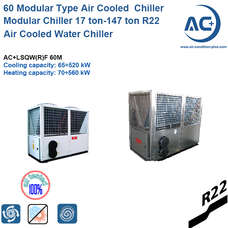 65kw Modular Type Air Cooled Water Chiller modular chiller