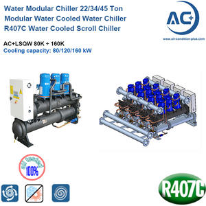 R407C Water Cooled Scroll Chiller 22/34/45 Ton water modular chiller